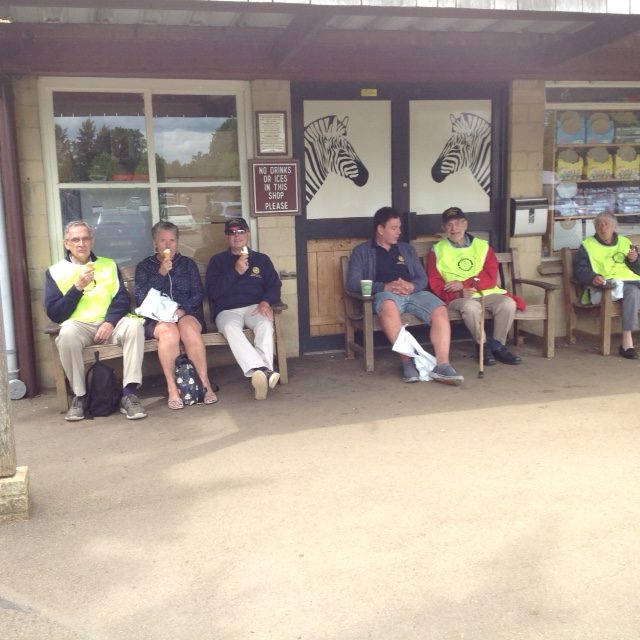 Rotarians taking a break at the Cotswold Wild Life Park