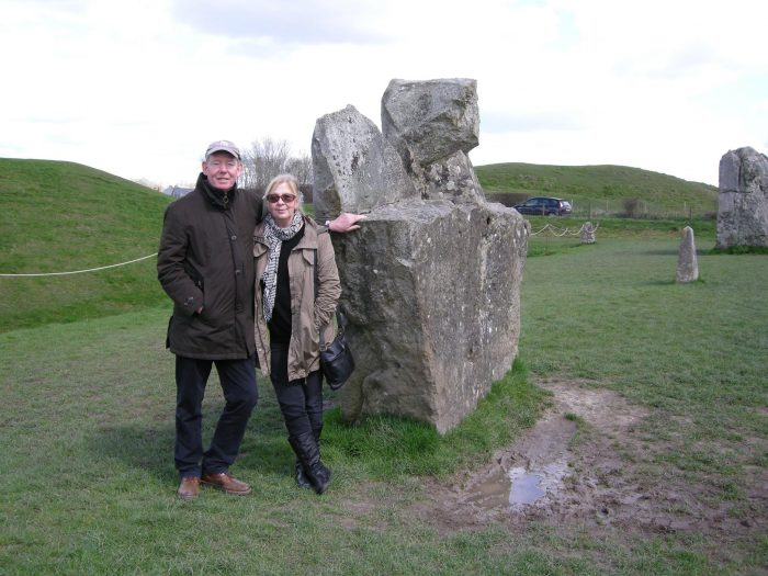 Meet member Mike with Ritva at Avebury