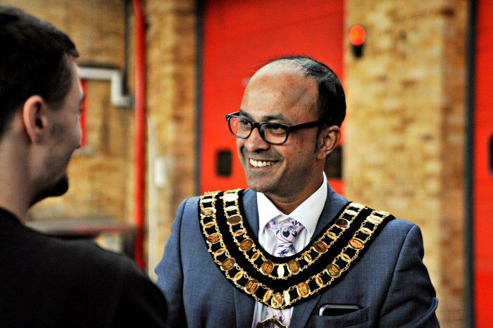 The mayor Junab Ali