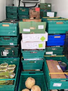 Fare Share Fresh food loaded into chiller van