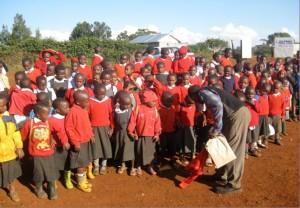 The children of  the Memorial School Desai